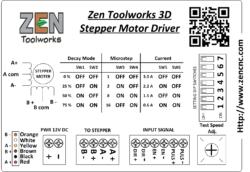 3A Stepper Driver Label